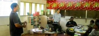 Training course on malaria at Kutubu. Courtesy: Oil Search Health Foundation