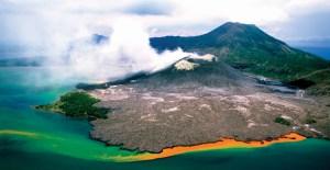 Rabaul Volcano in East New Britain. Credit: Kirklandphotos.com