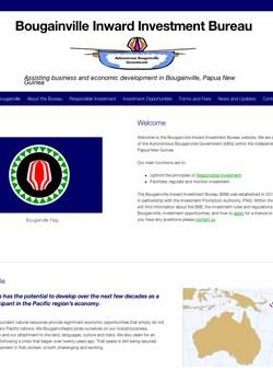The new Bougainville Inward Investment Bureau website
