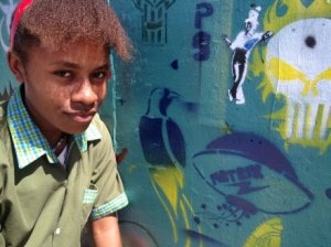 Beautfiying Port Moresby with street art ahead of 2015 Pacific Games (Credit: ABC)