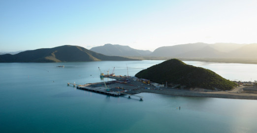 The port at the Koniambo nickel project. Credit: Glencore