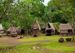 Trobriand Island village. via Flckr