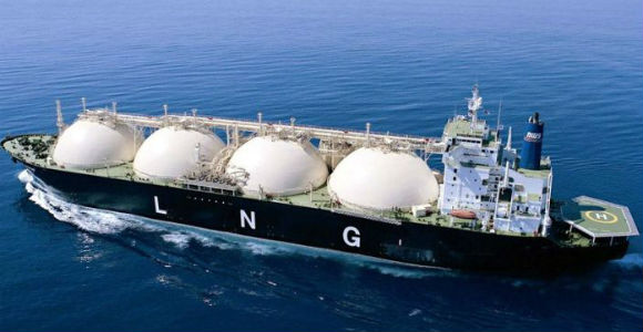 LNG is exported by ship. Credit: ExxonMobil PNG