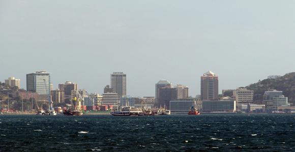 Port Moresby Harbour, showing Steamships' Harbourside development