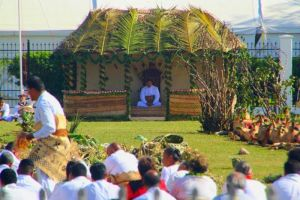 The Tongan king's inauguration. Credit: Twitter Proudtongans