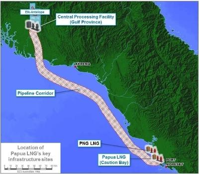 Papua LNG map