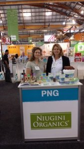 The Niugini Organics stand at the Fine Foods Australia 2015 in Sydney last month. Credit: PT&I