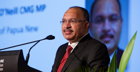 Prime Minister Peter O'Neill