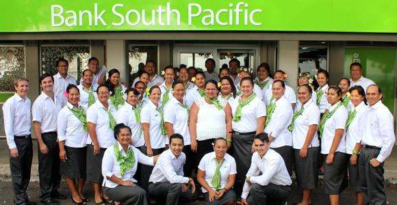 Staff at BSP's Cook Islands head office.