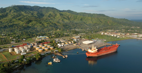 New Britain Palm Oil exports in Kimbe. Credit: NBPOL