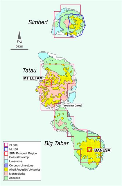 Map of Simberi Island group. Source: St Barbara