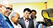 The opening of Borneo Pharmaceuticals' new pathology lab. Credit: Post Courier.