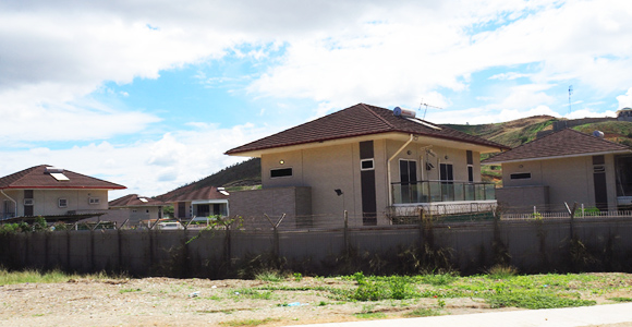 A new housing project in Baruni, Port Moresby