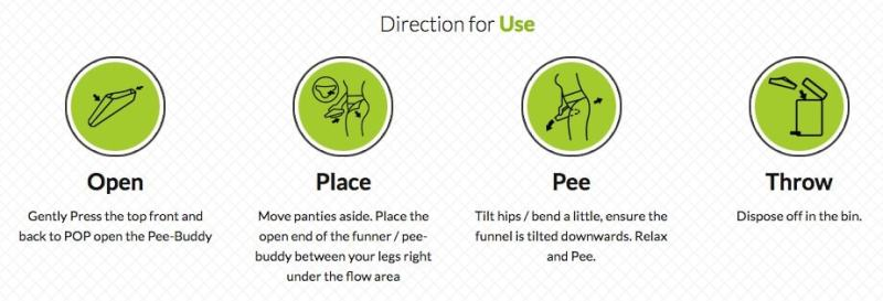 peebuddy direction to use public toilet