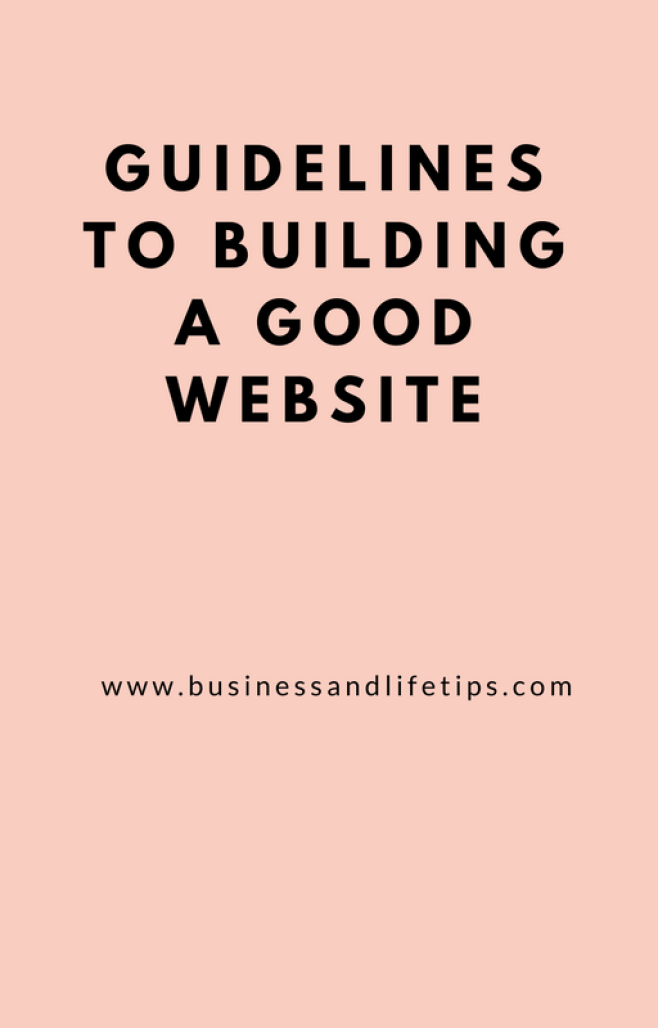 Guidelines to building a good website