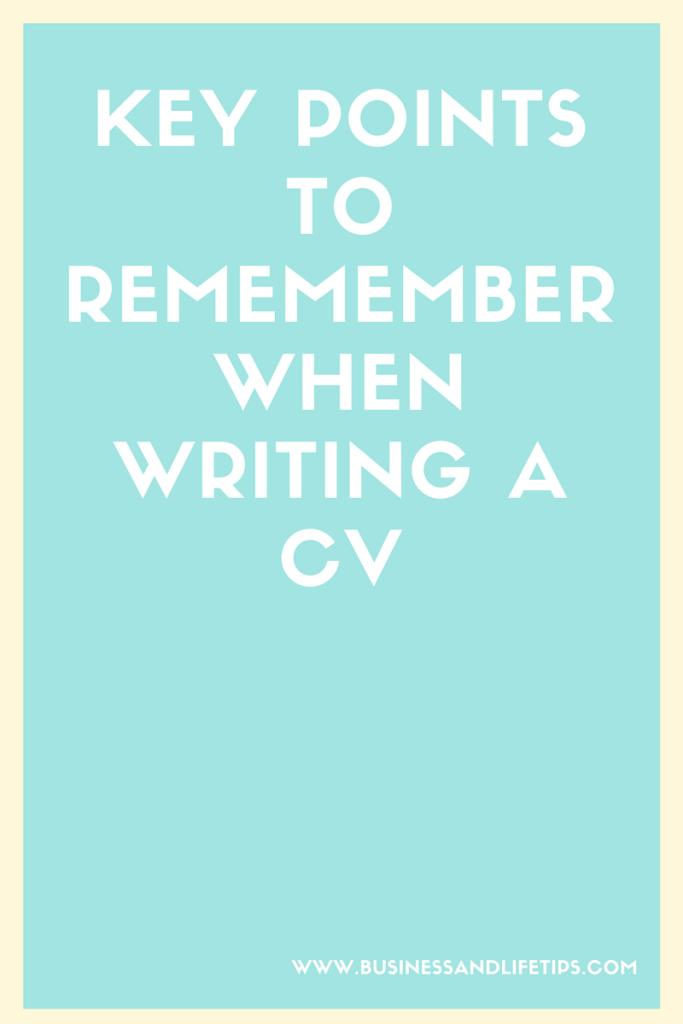 Writing a CV