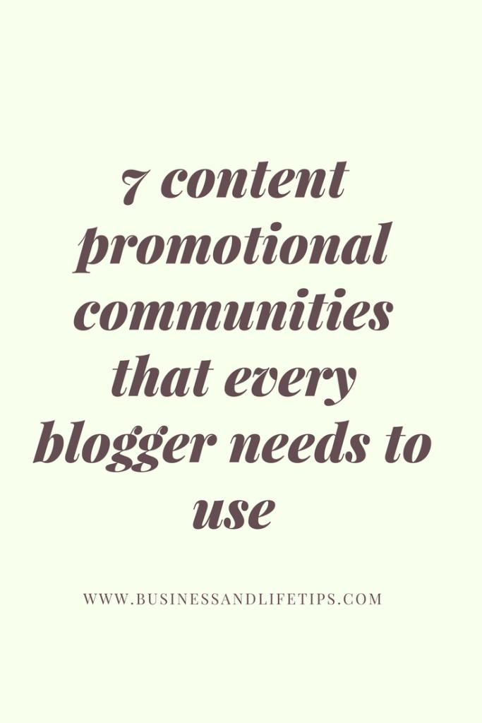7 Content Promotional Communities