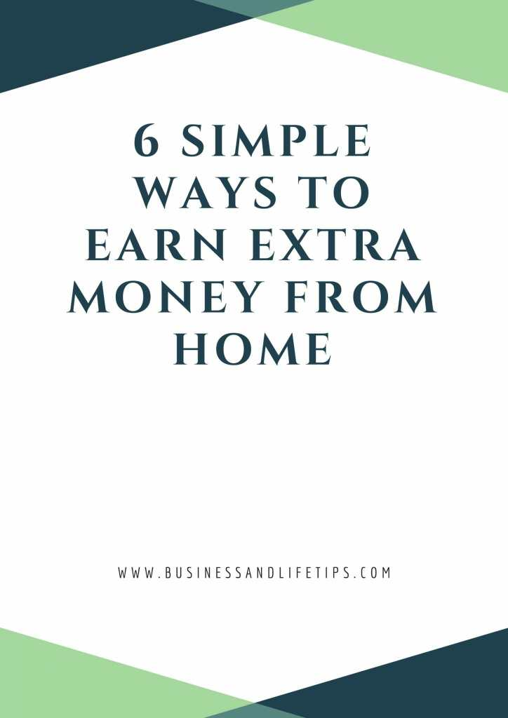 simple ways to earn extra money from home