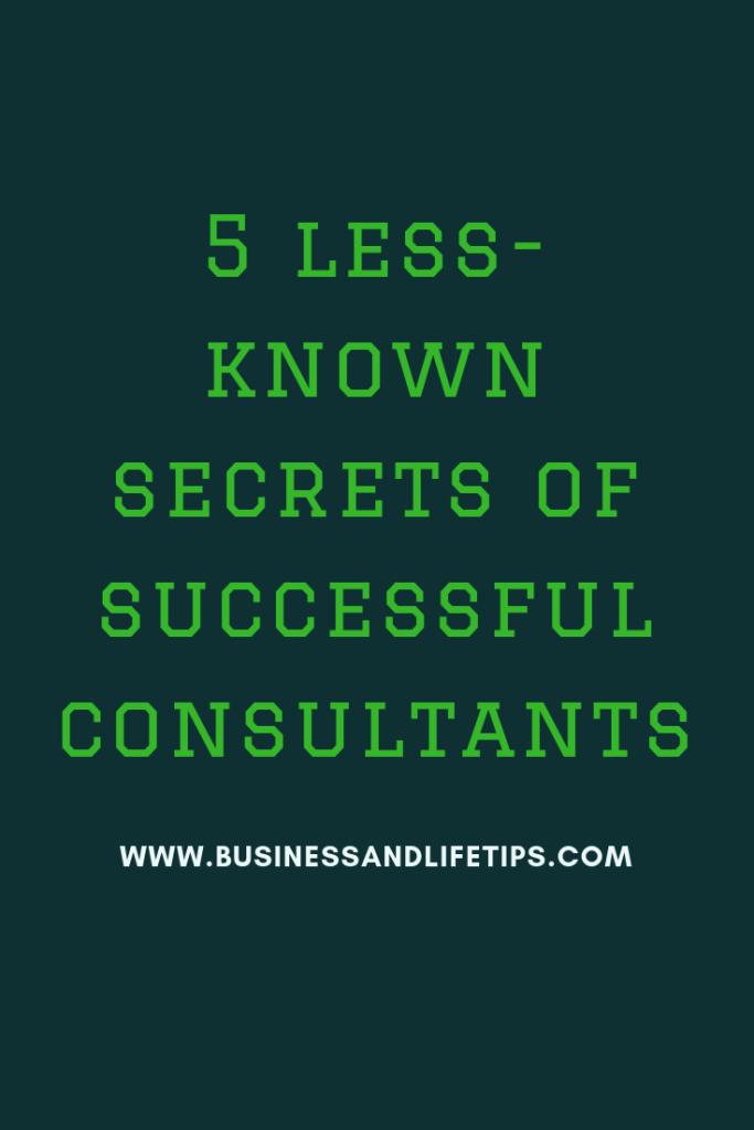 Secrets of successful consultants