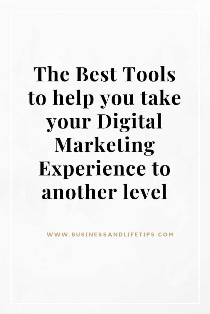 The Best Digital Marketing Tools