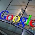 Google sign on top of revolving door