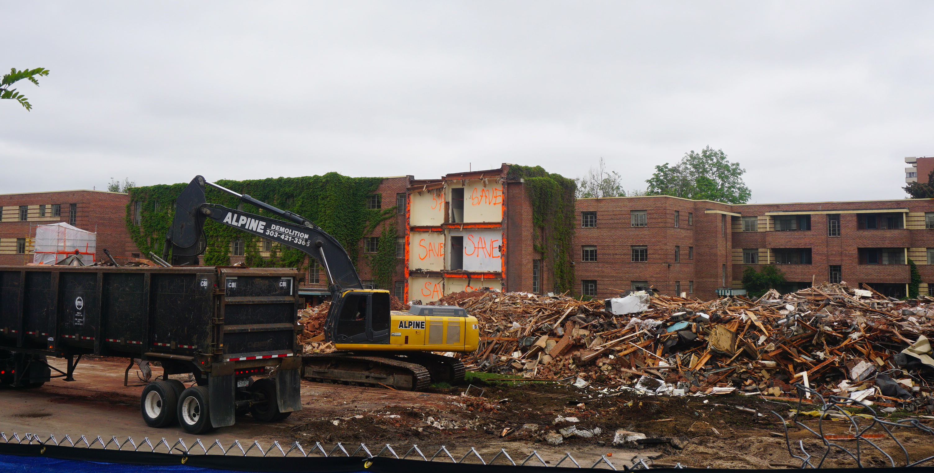 The Future Site Of Two Apartment Towers Is Being Razed. Photos By Burl  Rolett.