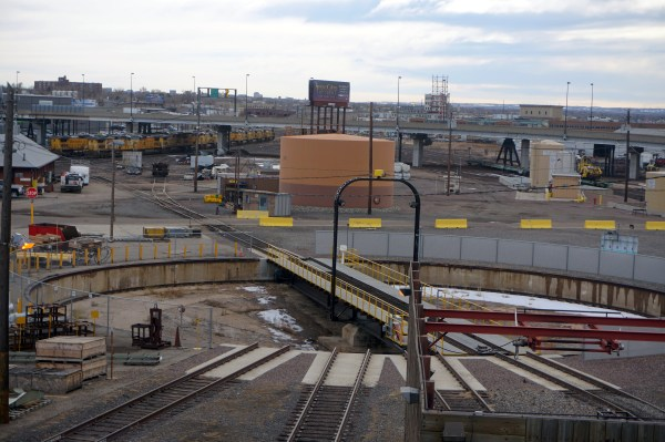 Union Pacific is closing down its huge railroad operation in Central Denver. Photos by Burl Rolett.