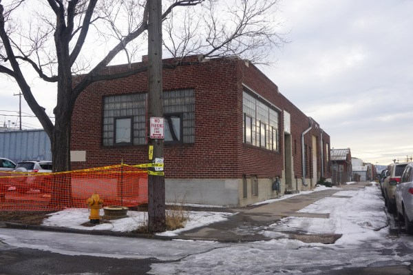 A warehouse building sits on the site slated for new apartments in RiNo. Photo by Burl Rolett.