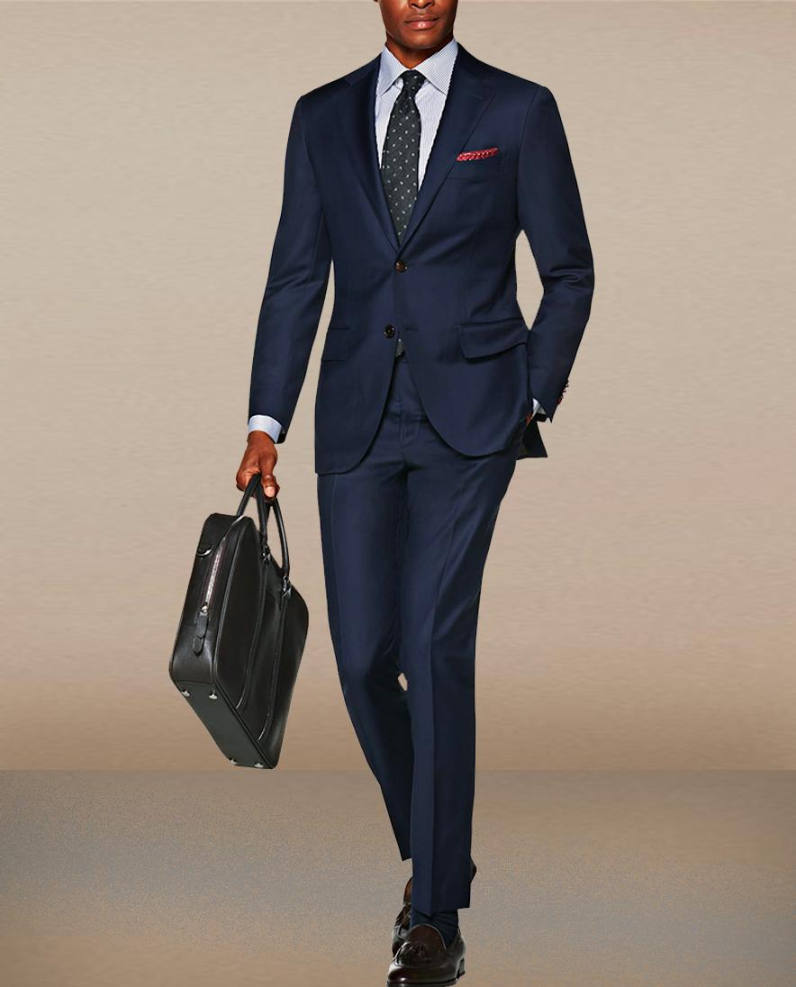 Costume BLEU ANGLAIS actuel Erkan Business et Style
