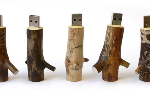 "DeskLitter: Wooden <span class=""caps"">USB</span> Stick"