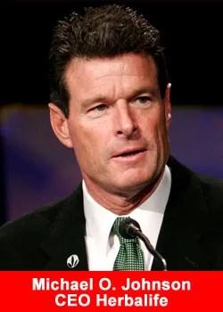 Michael Johnson,Herbalife,CEO