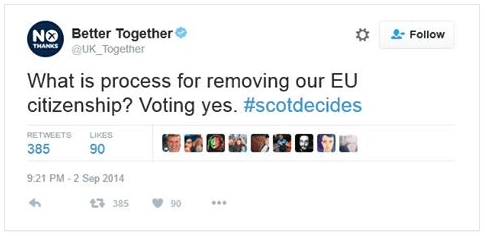 Image result for scottish independence referendum warnings about eu membership