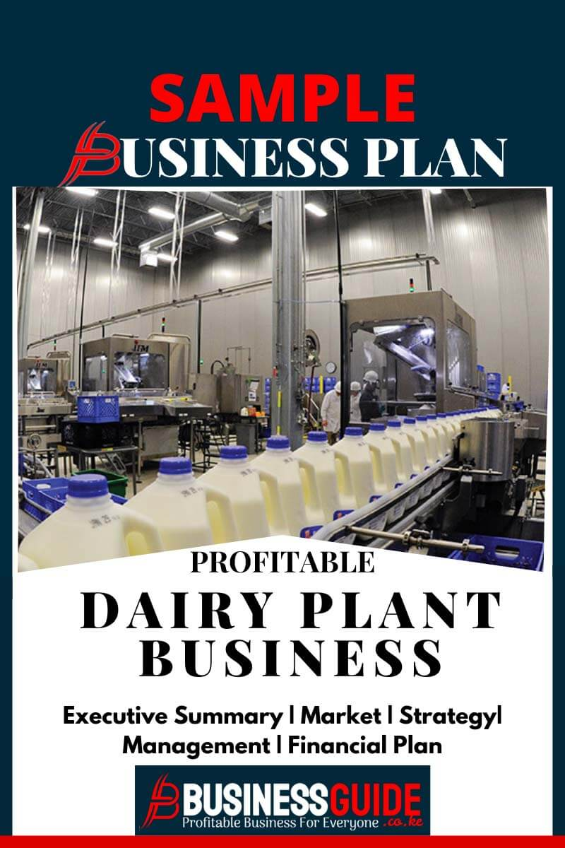 DAIRY PLANT SAMPLE BUSINESS PLAN