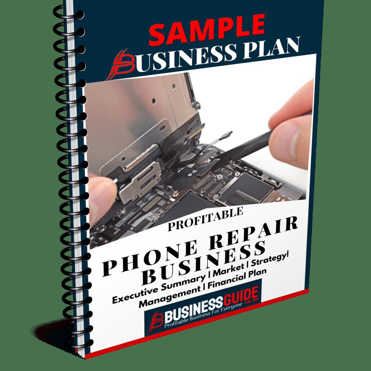 Phone Repair Sample Business Plan