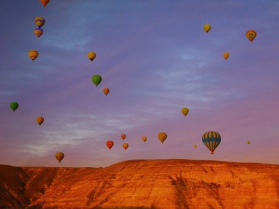 Cappadocia Ballooning at sunrise. We counted 92 balloons.