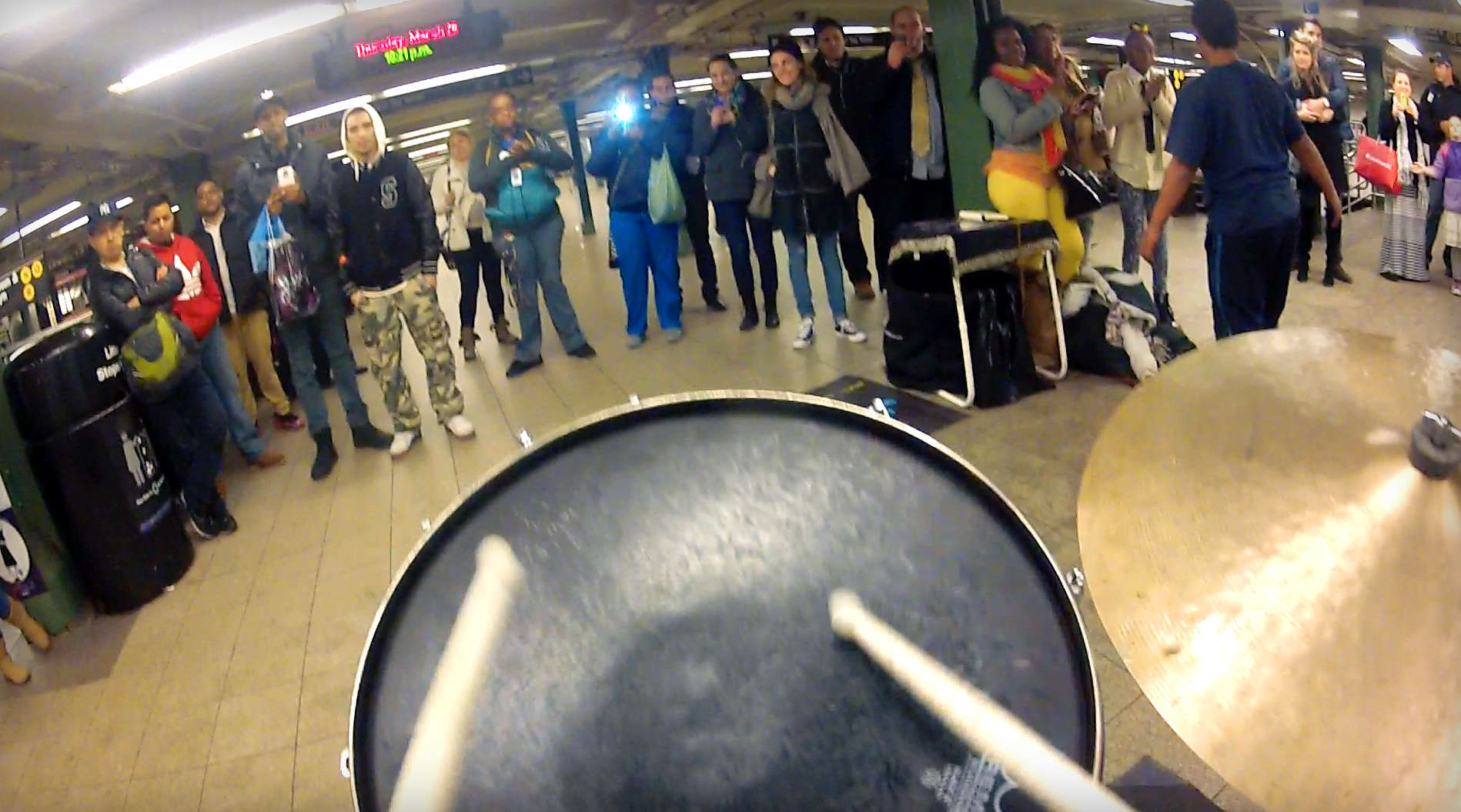 We Put a GoPro on a Subway Drummer