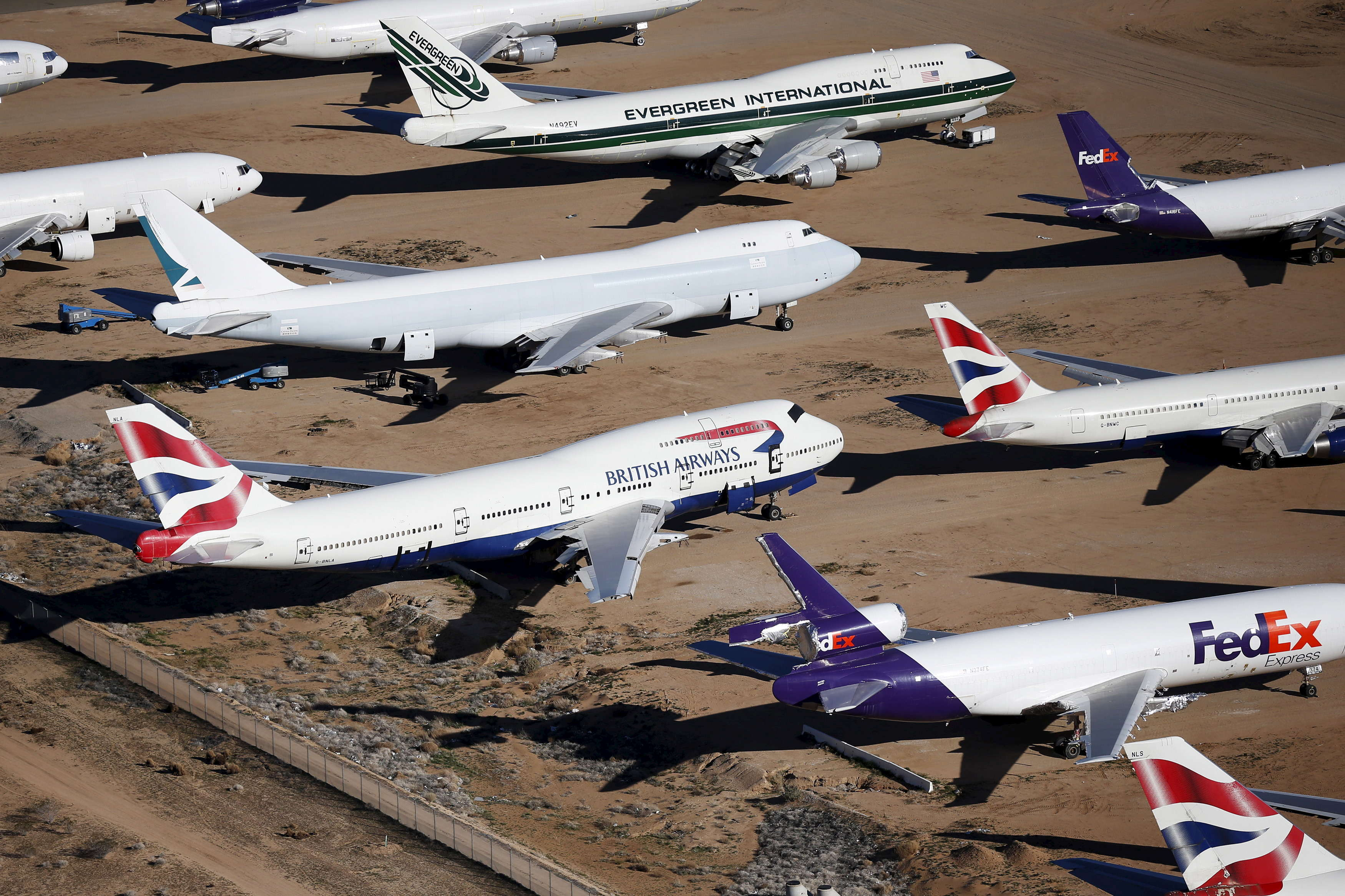But as the average age of their 747 fleet near 20 years, British Airways is slowly retiring its older birds.