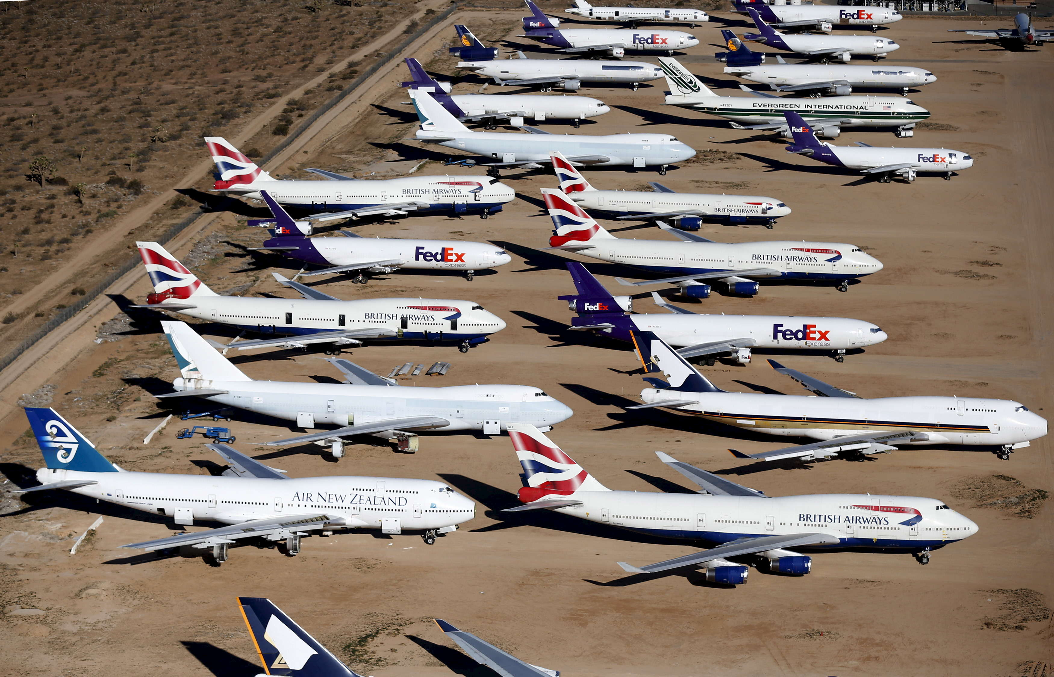 In addition to BA, Singapore Airlines, Air New Zealand, and Cathay Pacific have sent their 747s to Victorville.
