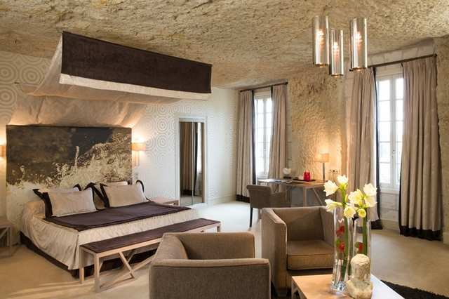 For a more modern take on a troglodyte dwelling, Les Hautes Roches is a five-star hotel constructed inside a limestone cliff. The lavishly decorated rooms overlook the Loire River.