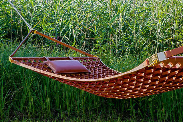 Leather hammock