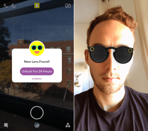 If you want to see how Spectacles look before you buy them, you can try them on virtually in the Snapchat app now.
