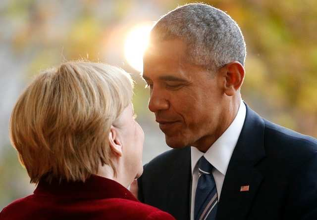 Barack Obama and Angela Merkel met for the last time in an official capacity in Berlin in November. The pair formed a close bond during Obama's eight-year presidency.