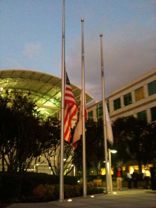 Jobs stepped down as Apple CEO on August 24, 2011, accepting a role as chairman, after his pancreatic cancer relapsed. Not long after, Jobs died on October 5, 2011, working for Apple until the day before his death. That night, the flags at Apple flew at half-mast.