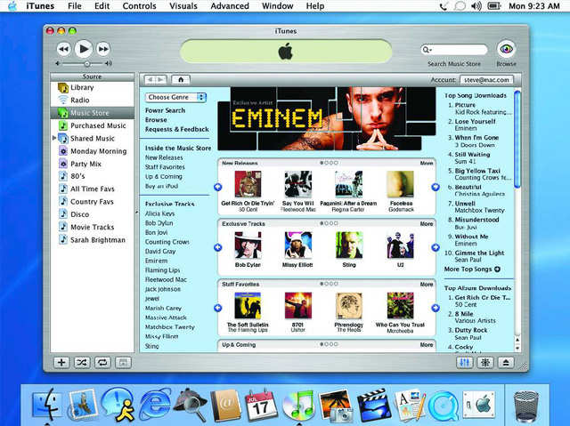 In 2003, Apple opened up the iTunes Music Store, with its novel pricing model of $0.99 per song, to turn the iPod into the center of a digital media universe. Around the same time, both iTunes and the iPod hit Windows, jump-starting Apple's music play.