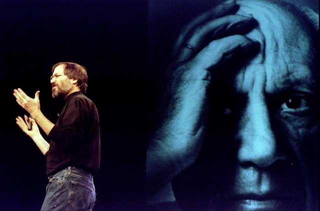 But in early 1998, at yet another Macworld Expo in San Francisco, Jobs ended his keynote with the first of his soon-to-be ubiquitous