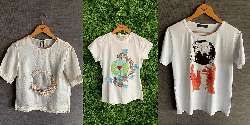 T-shirts made by designer Shriya Som, Natasha Dalal and Arjun Kilachand for the World Initiative. (Sincerely: World Team)