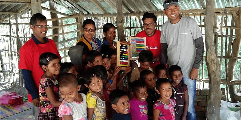 Keishale Foundation team with some children.