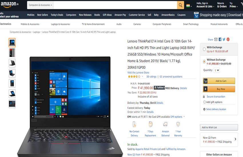 Amazon Deals on Laptops