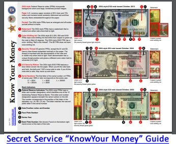 Secret Service Guide Shows How To Detect Counterfeit Money