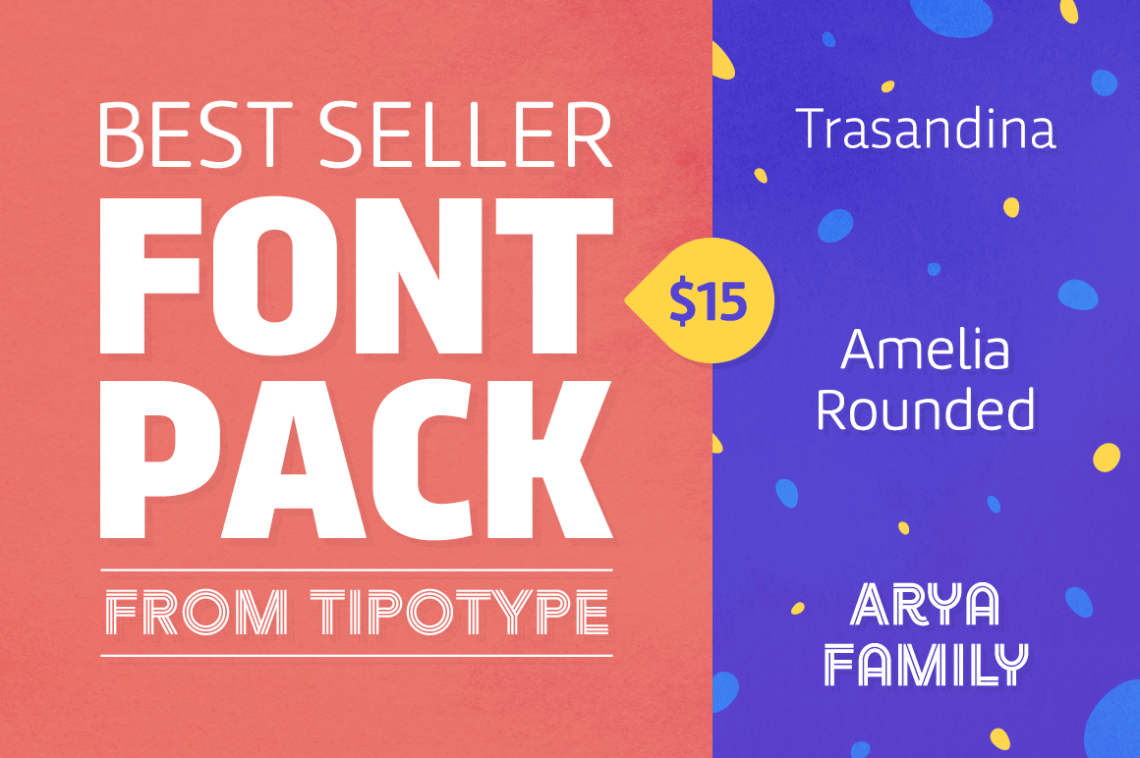 Download Best Seller Font Pack from TipoType - only $15! -Business ...